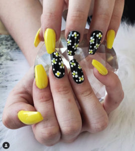 Mimi Nails Colourful Acrylic Gel Nail Design